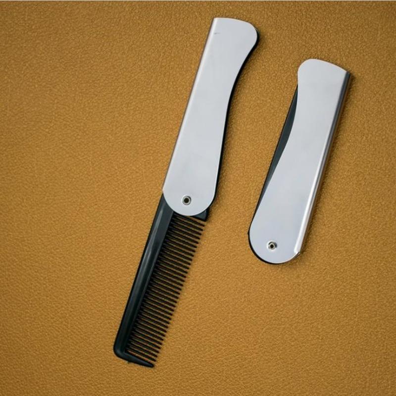 1 Pcs Mens Womens Beauty Handmade Folding Pocket Clip Hair Moustache Beard Comb Women's Hair Accessories Hair Brush