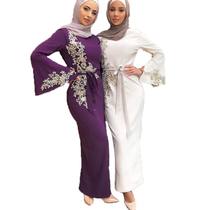 Image 4 - Dubai Muslim Prayer Dress For Women Moroccan Turkey Bangladesh Oman Islamic Clothing Robe Hijab