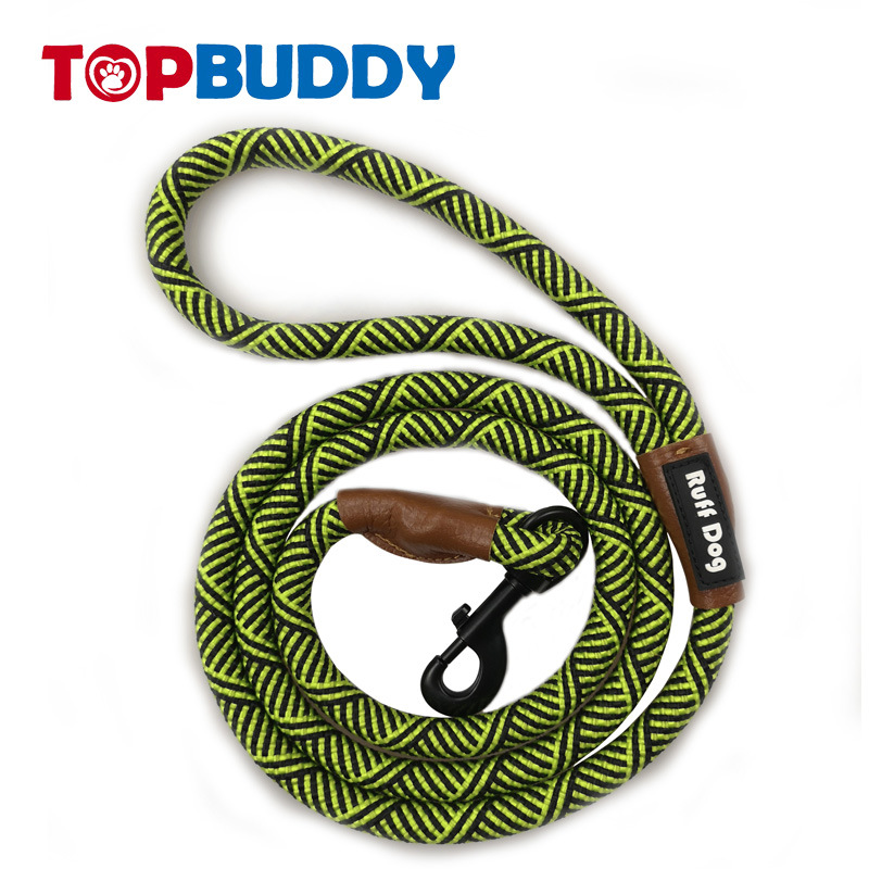 Hot Selling Weaving And Medium-sized Dog Pet Nylon Multi-color Reflective Rough Round Rope Dog Hand Holding Rope