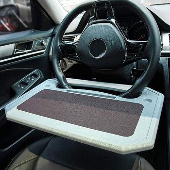 Stolik samochodowy kierownica do jedzenia kierownica samosterujące koło do samochodu biurko do laptopa Tablet Notebook Travel Table tanie i dobre opinie JUSTAUTO CN (pochodzenie)