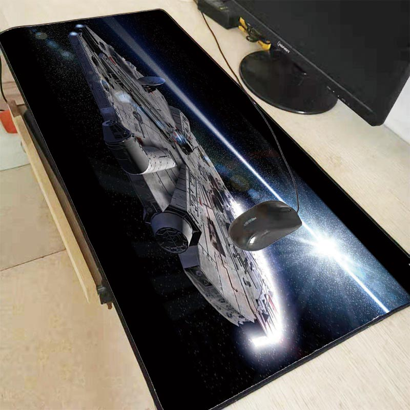 XGZ Star Wars Locking Rand Gaming Maus <font><b>Pad</b></font> Gamer Spiel Locking Rand Maus <font><b>Pad</b></font> Anime Mauspad Matte Geschwindigkeit Version für LOL Dota2 <font><b>XXL</b></font> image