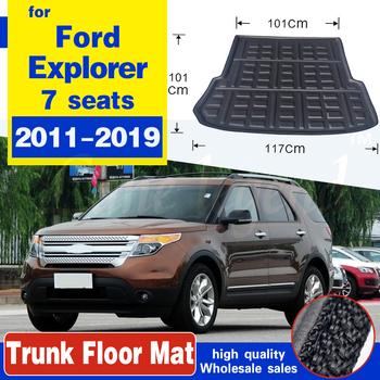 Samochód na tylny bagażnik mata do wyłożenia podłogi bagażnika tacy bagażnika dywan na podłogę maty nakładki dywanowe antypoślizgowe dla Ford Explorer 2011 #8211 2015 2016 2017 2018 2019 tanie i dobre opinie lane legend CN (pochodzenie) z włókien syntetycznych