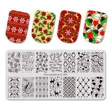 Набор пластин для стемпинга ногтей beautybigbang 3 шт Зимний