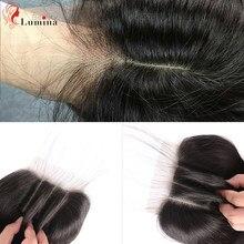 4x4 fechamento do laço onda corpo meio parte livre 100% cabelo humano brasileiro remy natural do cabelo fechamento do laço com o cabelo do bebê 130 densidade