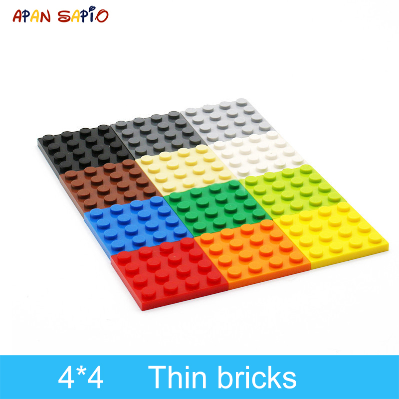 30pcs DIY Building Blocks Thin Figures Bricks 4x4 Dots 12Color Educational Creative Size Compatible With Lego Toys For Children