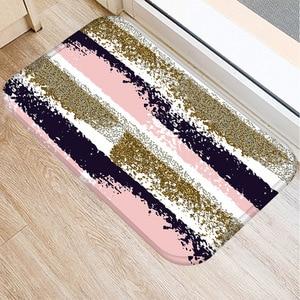 Image 2 - 40*60センチメートル幾何顔料非スリップスエードソフトカーペットドアマットキッチンリビングルームのフロアマットホームベッドルーム装飾フロアマット。