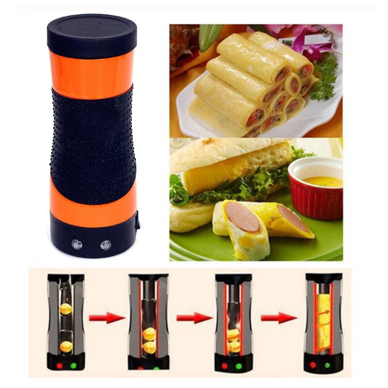 DIY Electric Egg Boiler Automatic Egg Roll Maker Egg Omelette Master Sausage Machine Bottle-Shaped For Breakfast EU Plug
