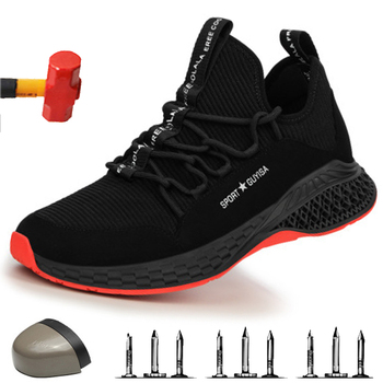 Steel Toe Safety Shoes Industrial & Construction Puncture Proof Summer Men Women Breathable Mesh Work Shoes Protective Footwear large size men casual comfort mesh steel toe cap work safety summer shoes puncture proof tooling security boots protect footwear