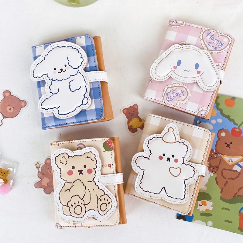 Cute Leather Women Wallet Hasp Small Wallets Pu Plaid Bear Rabbit Shape Card Holders Fashion Ladies Students Lolita Short Purse
