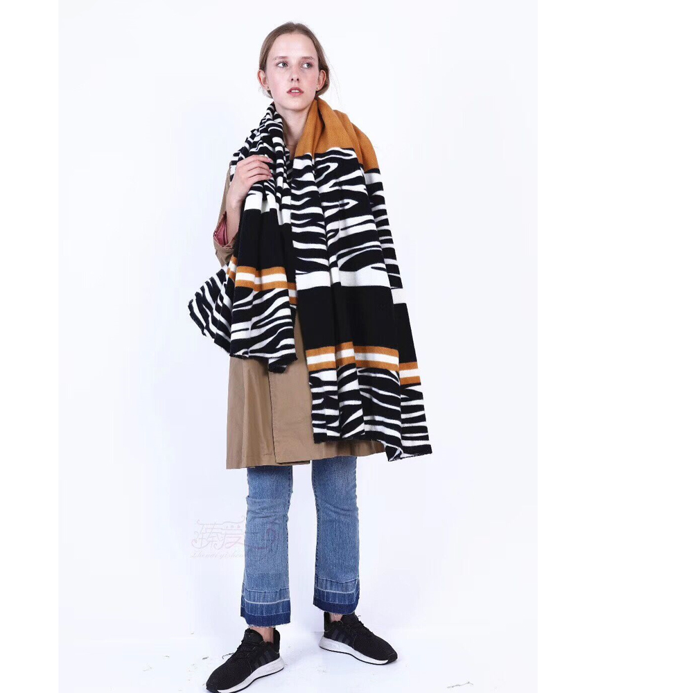 New Zebra Women Winter Scarf 2019 Cashmere Scarves Thick Neck Warm Lady Shawls Wraps Blanket Pashmina Female  Echarpe LL190908