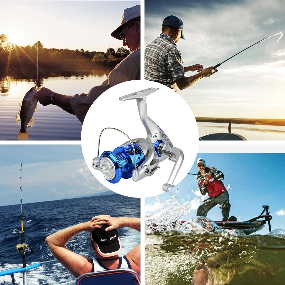 Carrete SA1000-7000 スピニング釣りホイールコイルフルメタ左/右手安い釣りリール部品