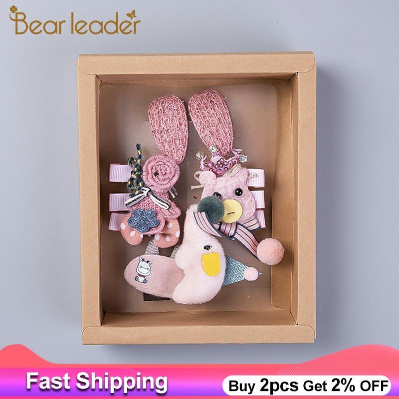 Bear Leader Hair Pins Bowknot Kids Baby Pins Cartoon Children Hair Clip Bow Pin Barrette Hairpin Ornament Accessories For Girls