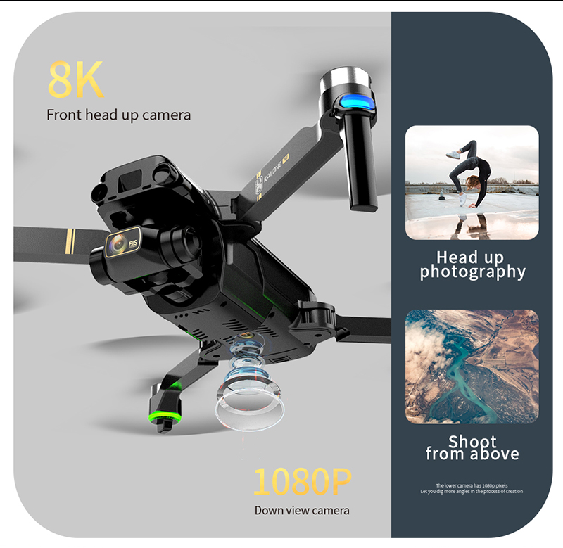 KAI1 Long Distance Pro 3-Axis Camera Drone 8K HD 4K Video 5G Foldable Brushless Quadcopter