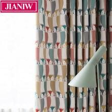 Jianiw Экологичные занавески из хлопка и льна с рисунком совы