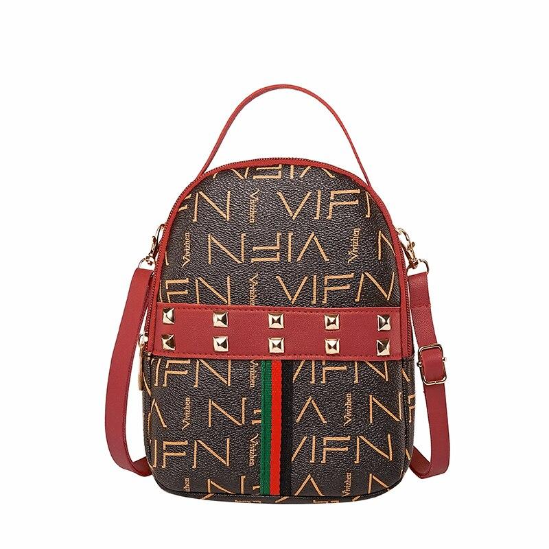 Women Small Backpack Fashion Rivet Mini Backpacks For Female Knapsack Purse