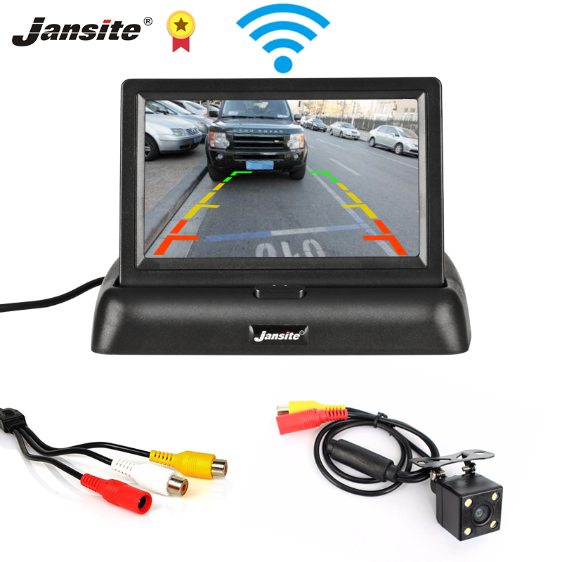 Jansite 4 3inch Car monitor TFT LCD Car Rear View Camera Parking Rearview System for Backup Camera Support VCD DVD Reverse image