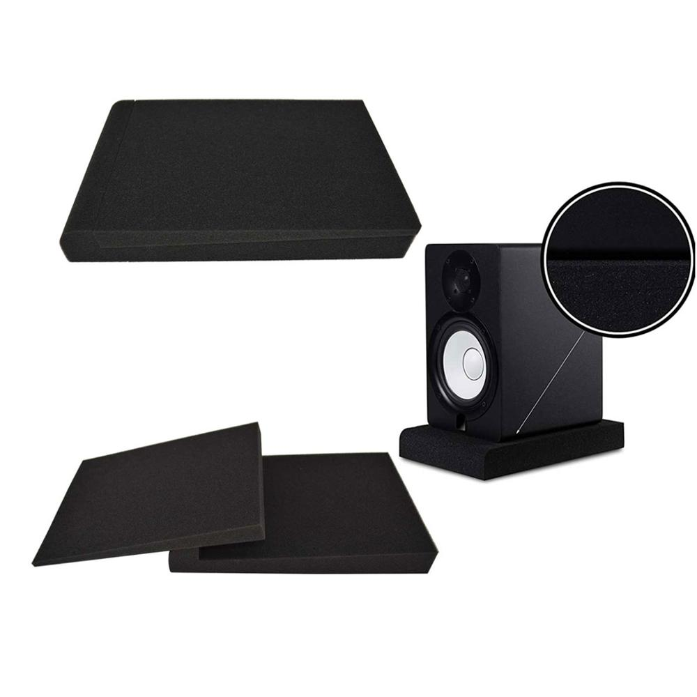 BEIYIN 2Set-Studio Monitor Isolation Pads for 5in Monitors,Pair of Two High Density Acoustic Foam which Fits most Speaker Stands