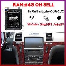 Autoradio pour Cadillac Escalade 2007 2008 2009-2012 Tesla écran Vertical Dvd multimédia Gps Navigation stéréo récepteur vidéo