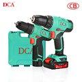 Электрическая дрель DCA, аккумуляторная отвертка, ручная электрическая дрель, набор инструментов, набор отверток, Мини дрель, литий-ионная ба...