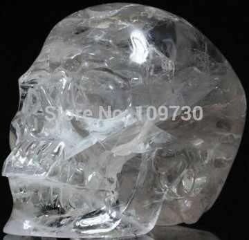 YM 328 kuvars kaya kristal oyma kristal kafatası, süper gerçekçi, şifa