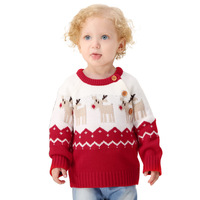 NEW Autumn winter Cartoon Christmas deer Boys Sweater children knitted Kids Pullover Top clothes Jumper baby Boy sweaters