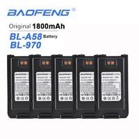 5 adet yeni orijinal Baofeng A58 Walkie Talkie için 7.4V 1800mAh pil Baofeng A58 BL 970 iki yönlü telsiz şarj edilebilir eller serbest|El Telsizi Parçaları ve Aksesuarları|Cep telefonları ve Telekomünikasyon Ürünleri -