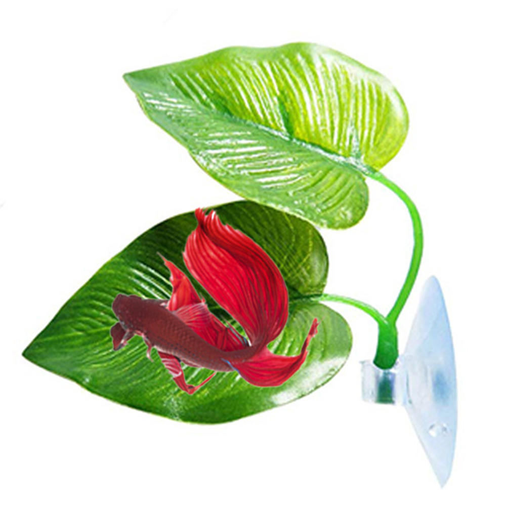 Aquarium Accessories Artificial Plant Leaf Hammock Fish Tropical Saltwater Fish Aquariums Betta Fish Spawning Rest Leaf