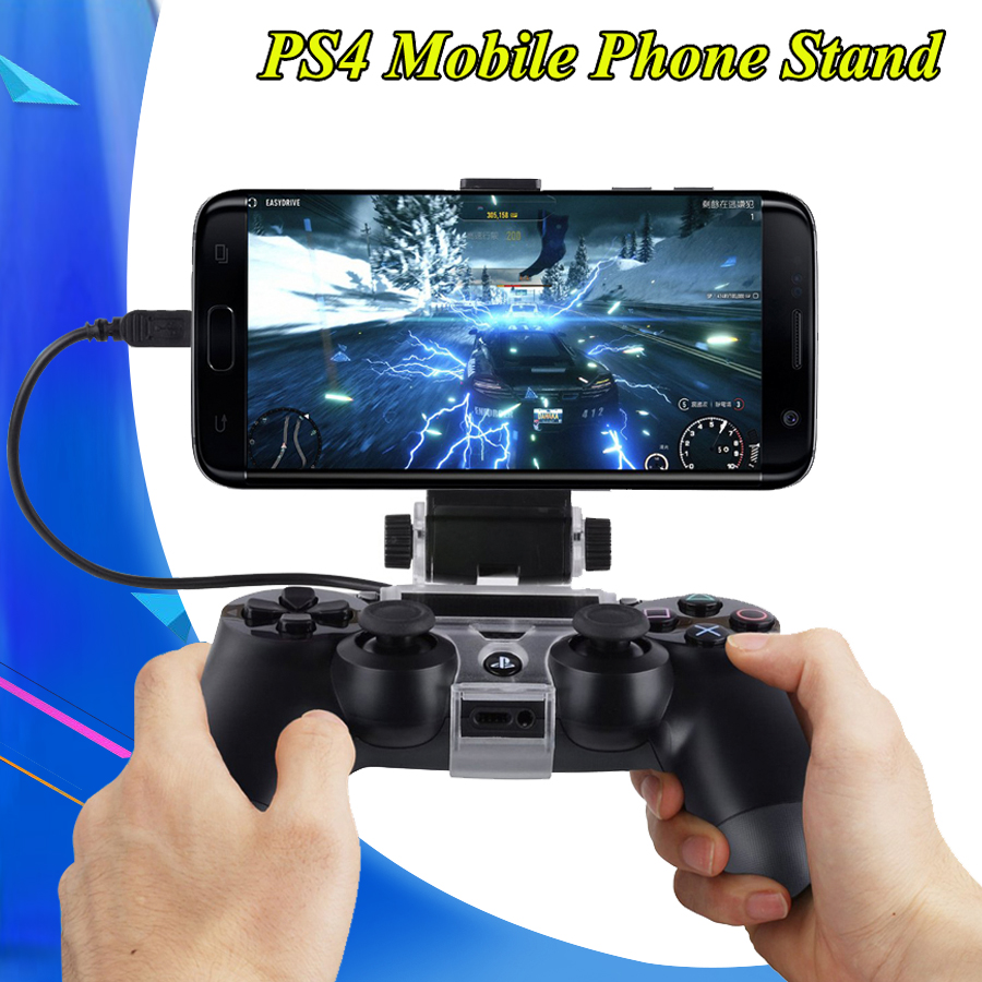 2020 PS 4 Game Controller Holder Gamepad Cradle Extendable Mobile Phone Stand With Cable Play Station 4 Joystick PS4 Accessories