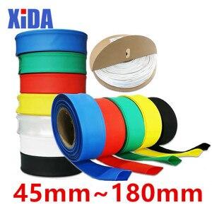 1meter 2:1 Black 45mm 50mm 60mm 70mm 80mm 90mm 100mm 120mm 150mm 180mm Heat Shrink Heatshrink Tubing Tube Wire Sleeving Wrap kit(China)