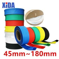 1meter 2:1 Black 45mm 50mm 60mm 70mm 80mm 90mm 100mm 120mm 150mm 180mm Heat Shrink Heatshrink Tubing Tube Wire Sleeving Wrap kit