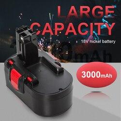 18V Replacement Battery Compatible with Bosch BAT160 BAT025 BAT026 BAT180 BAT181 2607335277 33618 52318 3860K 2607335265 2607335