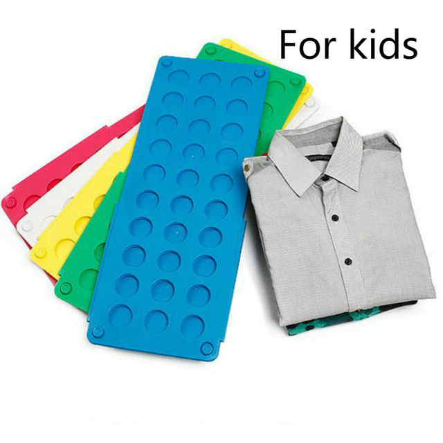 Quality child magic clothes folder t-shirts pullovers organizer fold save time fast clothes folding plank coat hook
