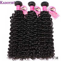 Jerry Curly Hair Weave Bundles Brazilian Human Hair Weft 3 Bundles 8''-26'' Real Remy Hair Extensions Natural Color For Women