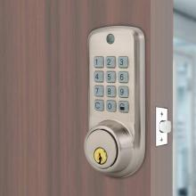 Electronic Password Zinc Alloy Lock Anti-theft Home Security Door Lock With 2 Mechanical