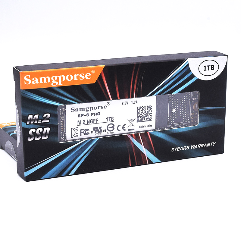 HY Samgporse M.2 2280 PCIE NGFF SSD 128GB 256GB 512GB 1TB Internal Disk  Internal Hard Disk For Laptop Desktop Pc