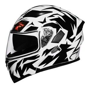 Image 3 - New Modular Motorcycle Helmet Flip up Capacete da Motocicleta Cascos Motorcycle Helmet Kask Bar Double Visors Men Racing Helmets