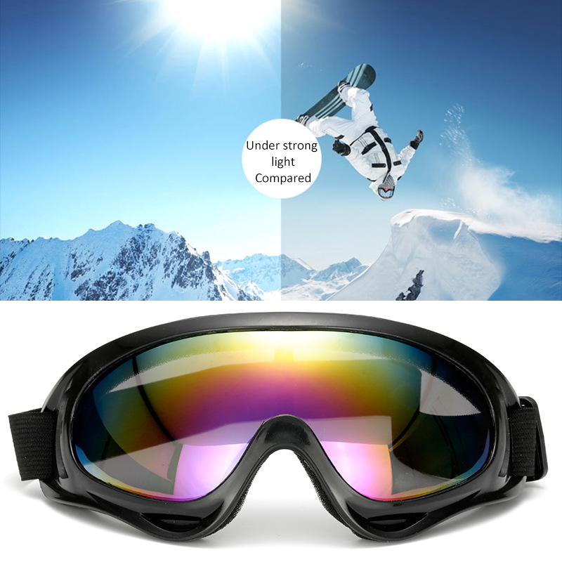 1pc Moto Cycling Sunglasses Winter Windproof Skiing Glasses Goggles Outdoor Sports Cs Glasses Ski Goggles UV400 Dustproof|Driver Goggles|   - AliExpress