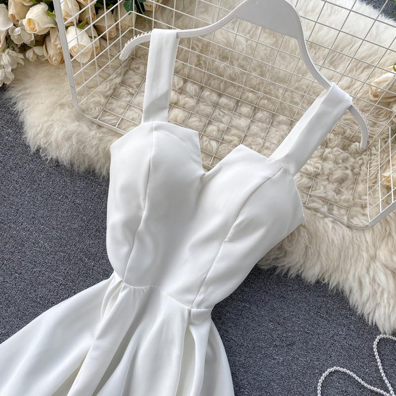 Elegant Vintage Sleeveless V-Neck Bandage Dress 30