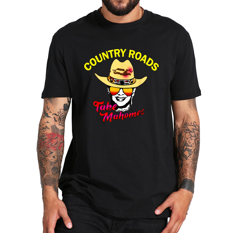 Take Me Home Country Roads Song T Shirt - John Denver Musician TShirt 100%Cotton Crew Neck High Quality Soft Tee Tops image