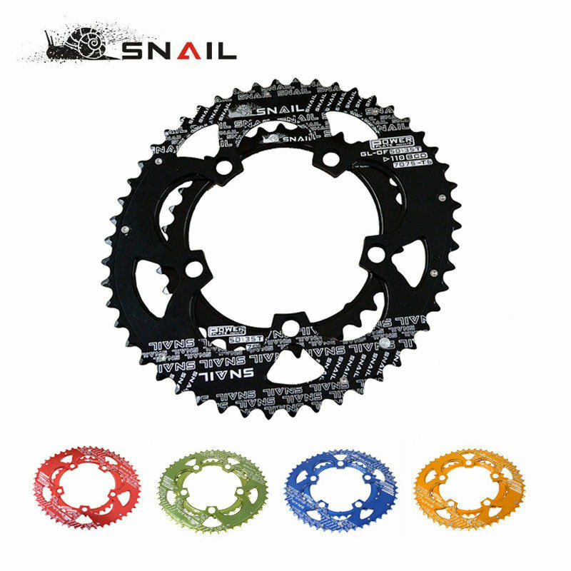 SNAIL <font><b>110BCD</b></font> Chainring Road Bike <font><b>50T</b></font>/35T Double Bicycle Chain Ring Oval Aluminum Cycling Chainwheel Disc Fit SHIMANO SRAM FSA image