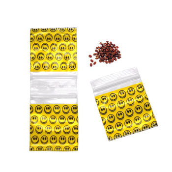 1 paczka (100 sztuk) hot new weed tobacco bag tytoń weed sealed torby do przechowywania torba Smile żółty wzór z uchwytem tobacco bag tanie i dobre opinie Bezpłatne typu GX146 Other