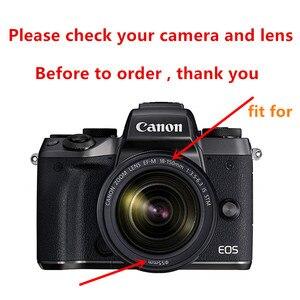Image 3 - Canon EOS M50 18 150mm lens tam koruma kiti ekran koruyucu kamera kılıfı UV filtre lens hood Cap temizleme kalem hava üfleyici