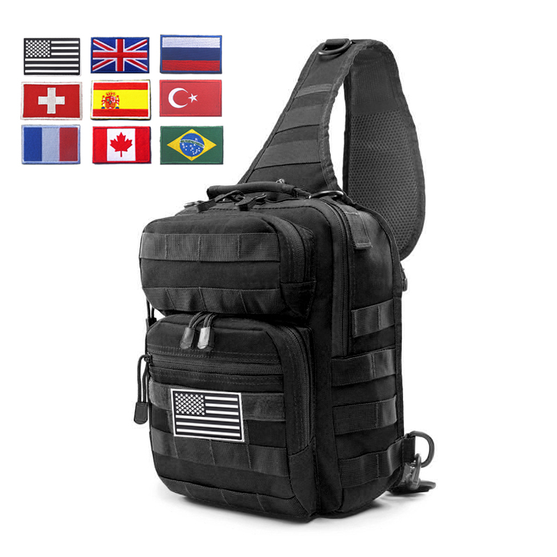 900D Large Military Sling Backpack EDC Tactical Shoulder Bag Army Molle Chest Pack Waterproof Outdoor Camping Trekking Backpack