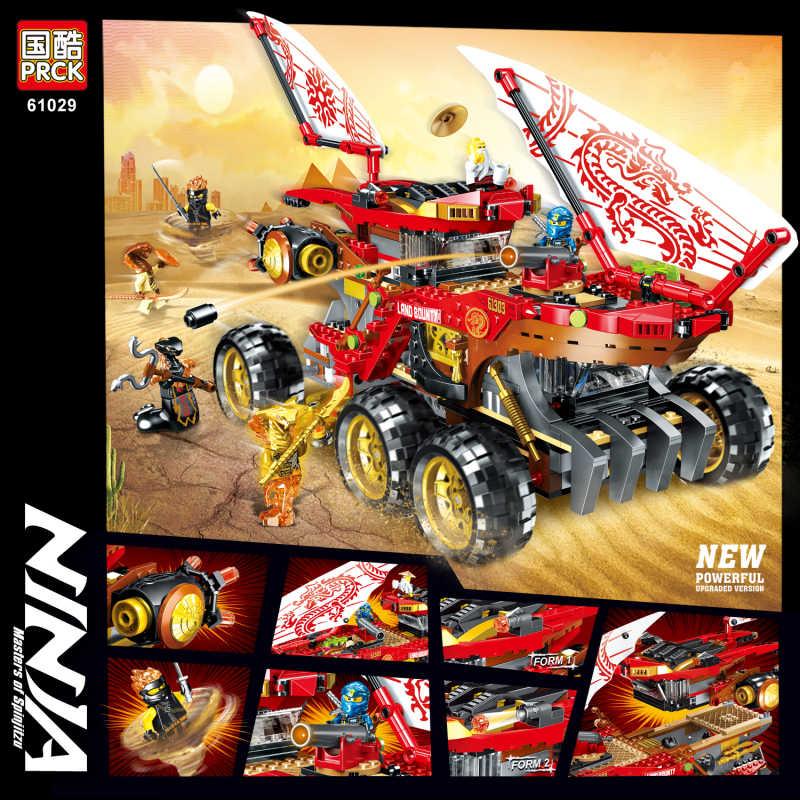 61029 858 Chiếc Ninja Đất Săn Tiền Thưởng Mô Hình Xe Tải Khối Xây Dựng Tương Thích Legoinglys 70677 Ninjagoes Đồ Chơi Trẻ Em Gạch