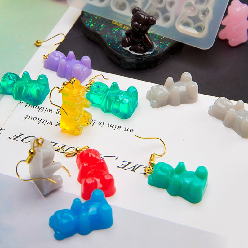 Cute Bear Sugar Silicone Mould Crystal Resin Epoxy Mold Jewelry Pendant Crafts