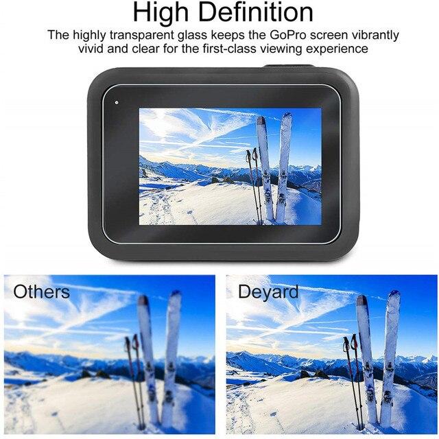 Sports camera Screen protectors for Gopro Hero 8 Tempered glass screen protector for Gopro 8 Lens Protector camera accessories 6