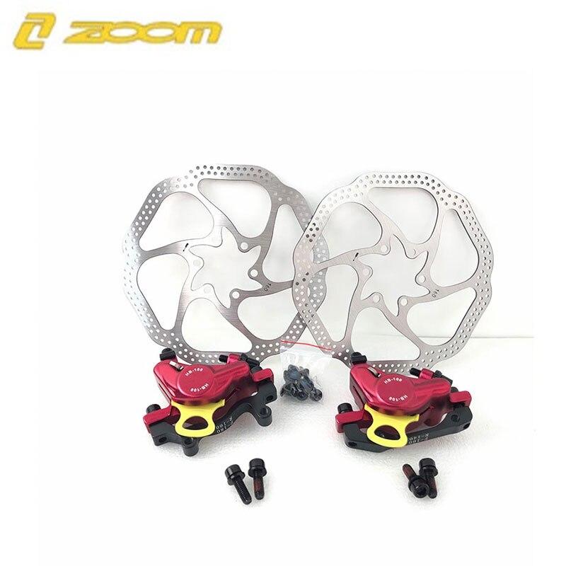 MTB Road HB-100 MTB Road Line Тяговая гидравлическая Дисковая тормозная штангенциркуль передний и задний дисковый тормоз горного велосипеда E-BIKE дисковый тормоз - Цвет: 1pair red W rotors
