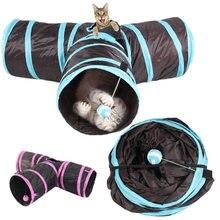 Туннель для домашних животных складной с 3 отверстиями кошек