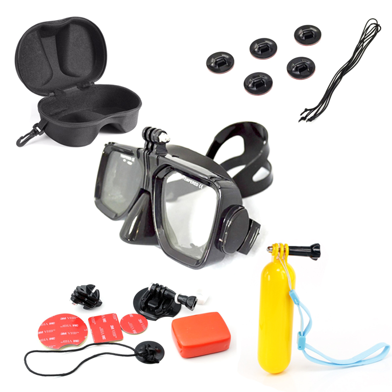 For Gopro Swiming Floating Kits Diving Mask Box Surfing Mount Tethers With Sticker For SJ4000 YI Action Camera Accessories