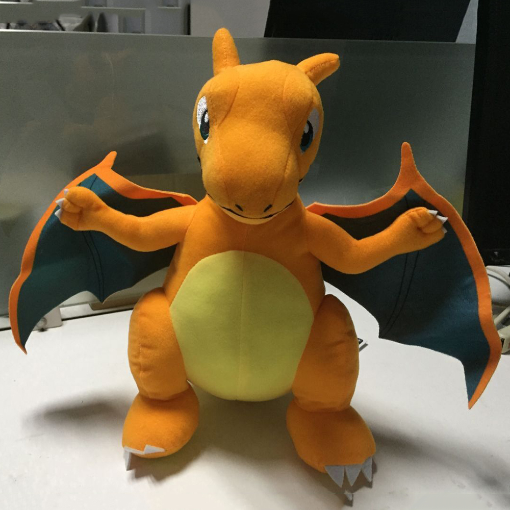 30cm Charizard Plush Doll Pokemoned Stuffed Toy Charmander Dragon Pikachued Doll Dinosaur For Kids Gift